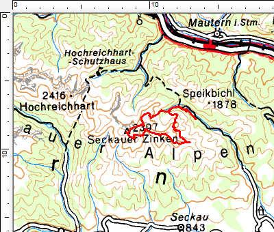 Tourengebiet Feistritzgraben - Seckauer Zinken