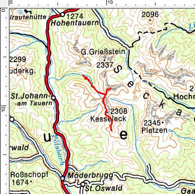 Tourengebiet St. Johann am Tauern - Franzlbauerhütte