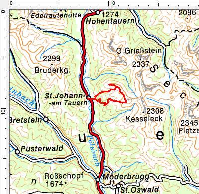 Tourengebiet St. Johann am Tauern - Triebener Tauern