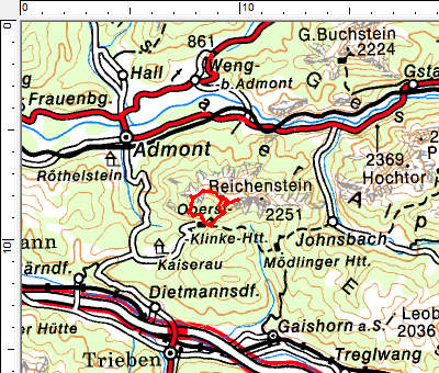 Tourengebiet Kaiserau - Oberst-Klinke-Hütte
