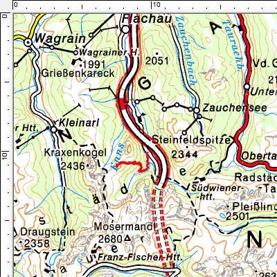 Tourengebiet Flachauwinkl - Gasthofalm