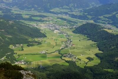 Ausblick vom Stoderzinken nach Gröbming