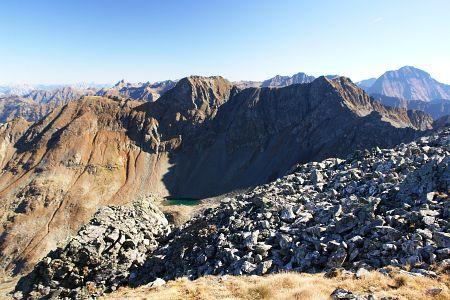Steiniger Abstieg ins Vetternkar