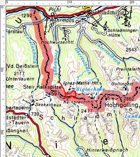 Tourengebiet Ursprungalm - Giglachsee - Vetternkar