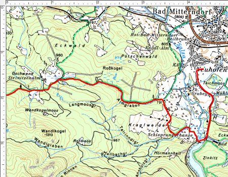 Die Route von Bad Mitterndorf zur Stenitzenalm