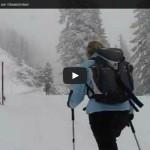 Schneeschuwandern im Schneesturm auf den Stoderzinekn