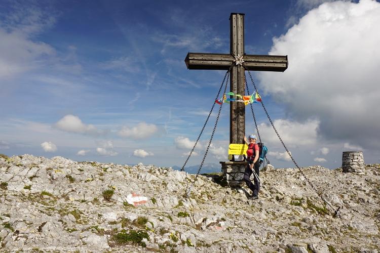 Beim Gipfelkreuz auf der Hohen Veitsch