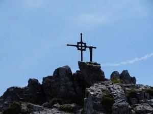 Gipfelkreuz am Kleinen Buchstein