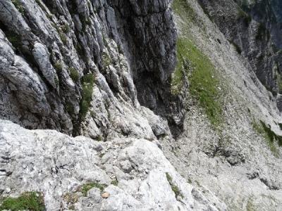 Die letzten - schwierigsten - Klettermeter beim Abstieg
