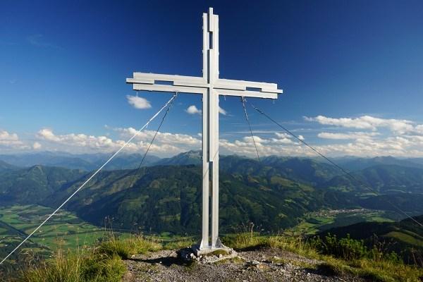 Gifpelkreuz am Kitzstein - Rechts erkennt man Selzthal