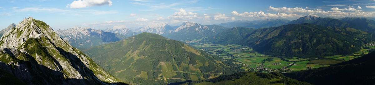 Panoramablick vom Kitzstein (Klick auf das Bild zur vergrößerten Anzeige)