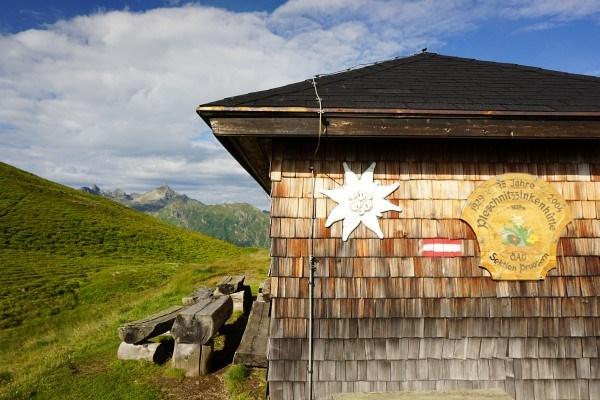 Bei der Pleschnitzzinkenhütte mit bestem Ausblick ...