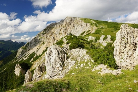 Blick zurück zur Kahlwandspitze ...