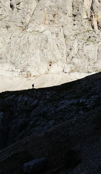 Ingrid hat die erste Steilstufe bereits überwunden