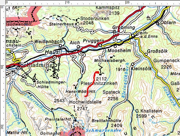 Tourengebiet Pruggern - Galsterbergalm