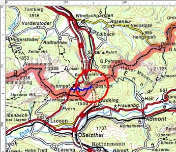 Tourengebiet Pyhrnpaß - Bosruck