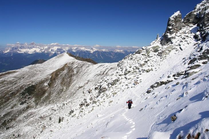 Im September-Schnee 2009 auf das Schiedeck