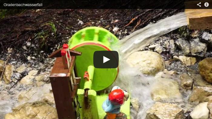 Wasserräder und Gradenbachwasserfall