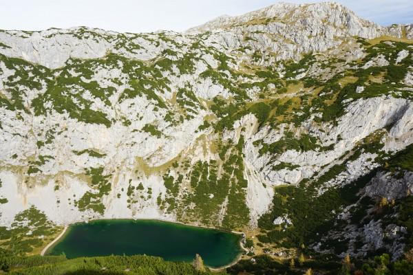 Tiefblick zum Silberkarsee (Hölltalsee)