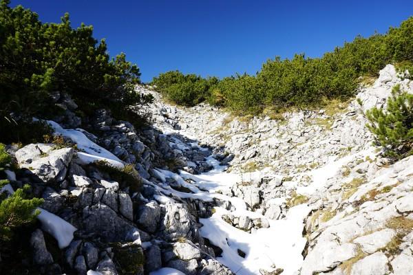 Aufstieg auf den Kleinen Größtenberg