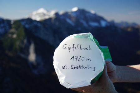 Gipfelbuch am Kleinem Größtenberg ...