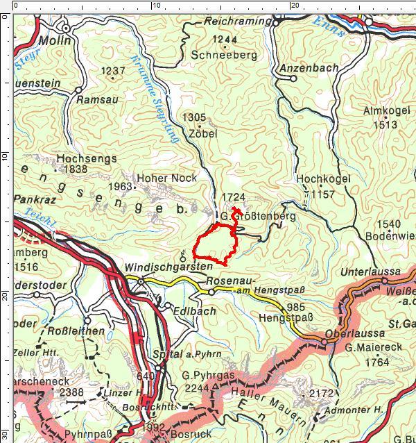 Tourengebiet Reichraminger Hintergebirge