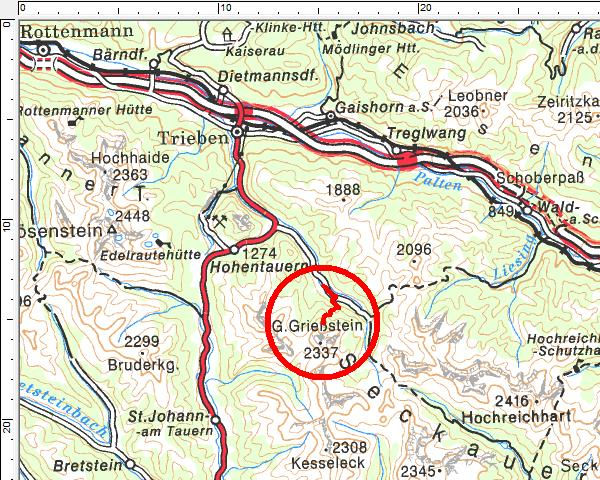 Tourengebiet Triebental