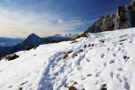 ... gibt es nennenswerte Schneefelder.