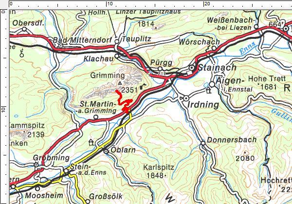 Das Tourengebiet auf der Südseite des Grimming