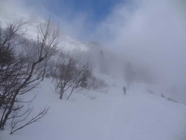 Teilweise dichter Nebel