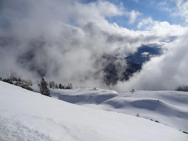 Nebel im Mittelteil der Tour - Sonne auf der Höhe