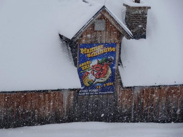 Den ersten Abschnitt entlang der Schipiste - oberhalb der Pfannerhütte ...