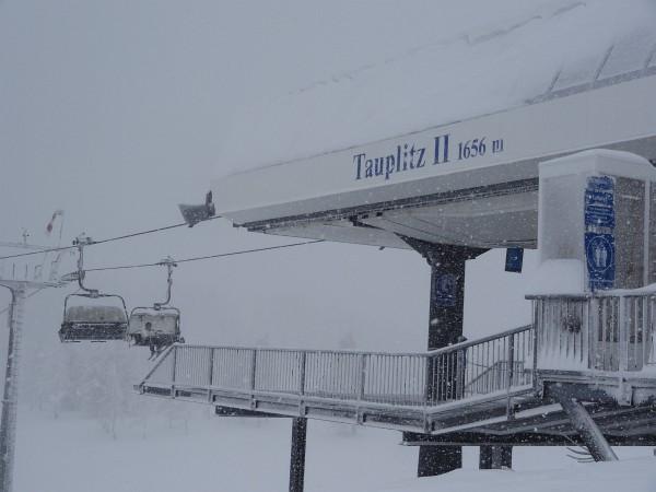 Bergstation des Tauplitzalm-Sessellifts - unser höchster Tourenpunkt.