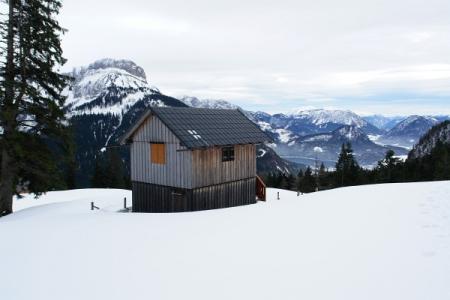 Ausblick von der Sandlingalm auf Loser und Altausseer See ...