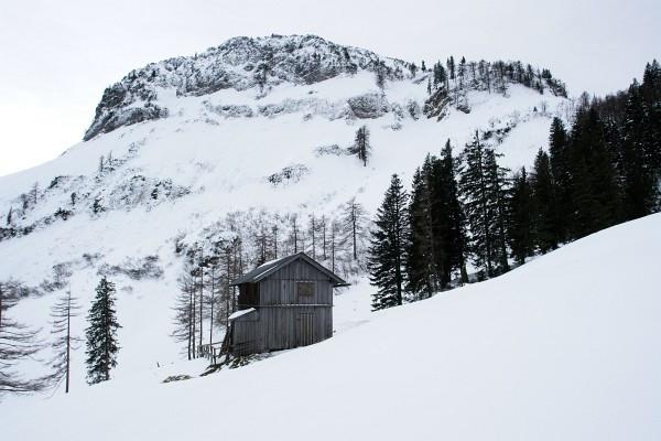 Der Sandling, den ich 2010 mit Schneeschuhen umrundet habe.