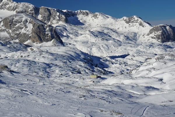 ... bei der wir morgen am Weg zum Gipfelkreuz am Niederen Rumpler vorbeikommen würden.