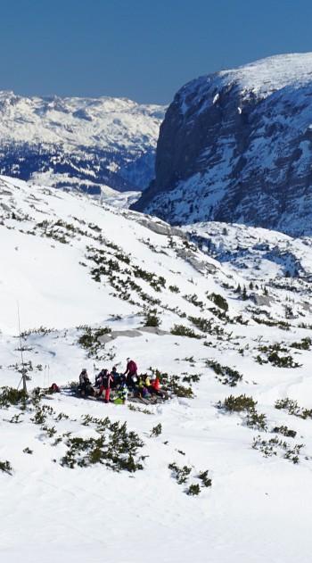 Rast zwischen Simonyhütte und Gjaidalm