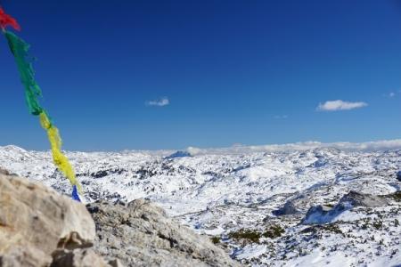 Blick über die herrliche Weite des Dachsteinplateaus, welches Michael und ich gestern zum Hirzberg überschritten haben.
