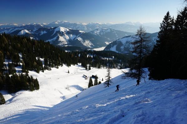 Steiler Schlussanstieg mit Ausblick in die Rottenmanner und Wölzer Tauern