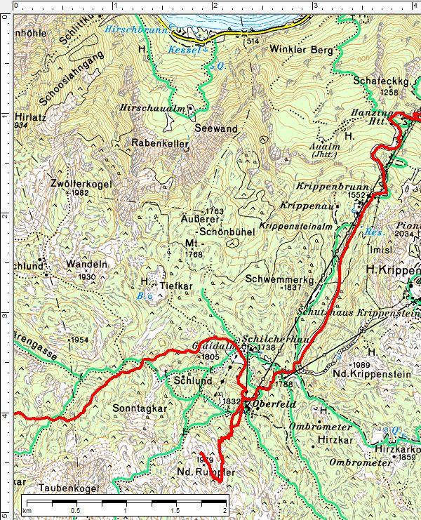 Die Abfahrt auf der präparierten Route/Piste ist auch mit Alpin-Skiern machbar. Für den Aufstieg auf der Rumplertour sind allerdings Tourenschi vonnöten.