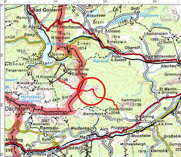 Das Tourengebiet zwischen Krippenstein, Hirzberg und Gröbming