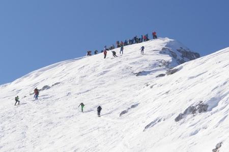 """Und der Ausblick auf den """"überfüllten"""" Gipfel lockt auch nicht gerade."""