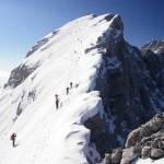 Am Schluhang zum Gipfelkreuz am Festkogel