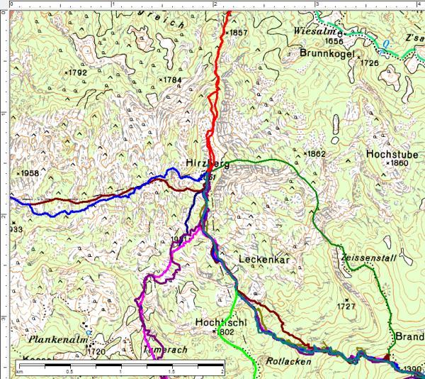 Viele Wege führen auf den Hirzberg - heute war erstmals der nordseitige Anstieg an der Reihe