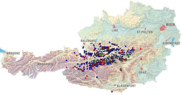 1001 Wandergipfel in Zentral-Österreich