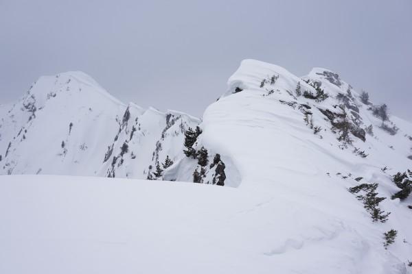Suboptimales Wetter auf der Wolfnalmspitze