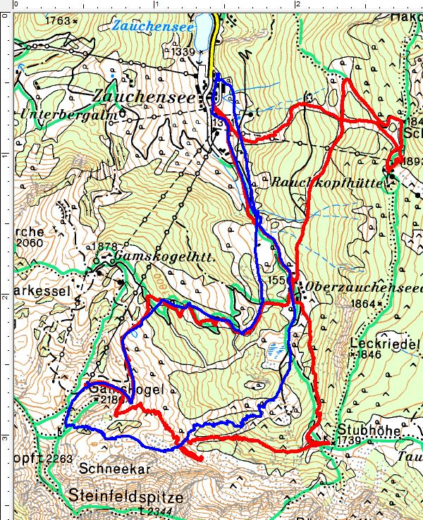 Meine 2 Skitourenvarianten im Umfeld des Zauchensee-Schigebietes