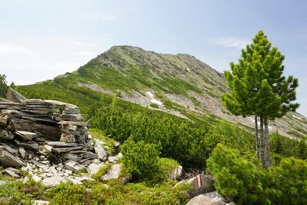 Blick auf den Steinkarseekopf