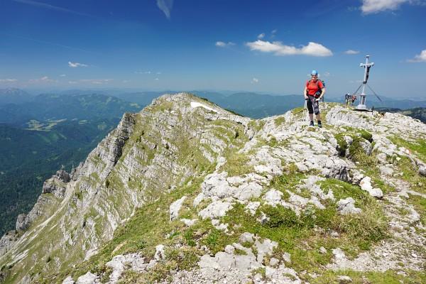 Die AlpenYetin am Dürrenstein-Gipfel