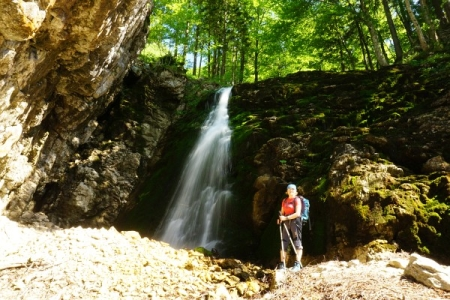 ... um das erfrischende Plätschern eines kleinen Wasserfalles zu bestaunen.